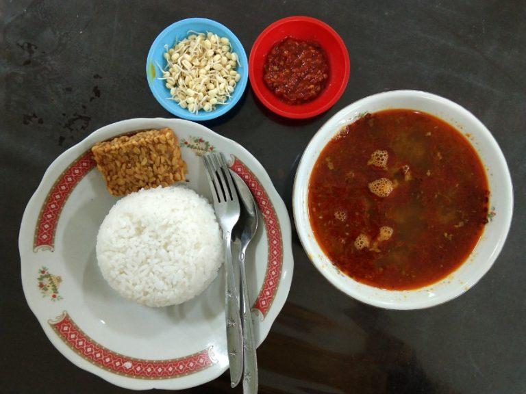 Nasi rawon merah Depot hts